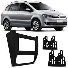Moldura VW Fox/Crossfox/Spacefox/14 Preto 2 Din