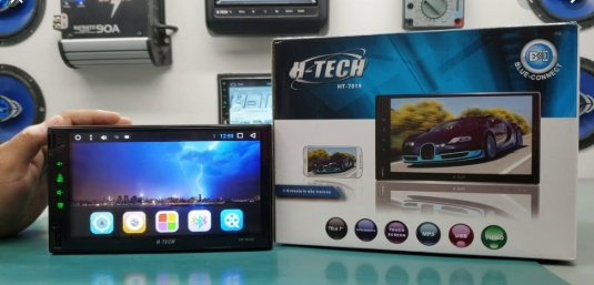 "Central Multimidia Htech MP5 7"" BT Sistema Android"